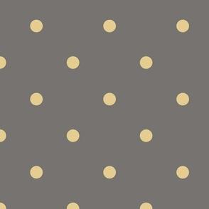 Small Dot - Straw Yellow, Grey