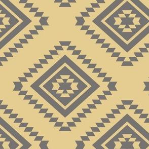 Aztec - Brown, Straw Yellow