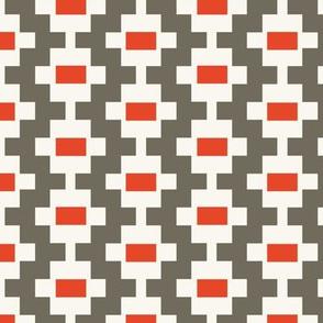 Aztec Ladder - Ash, Red, H White