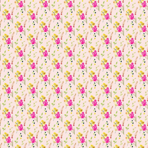 Meadow Floral on Pink