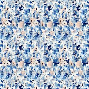 Indigo Watercolor Splat