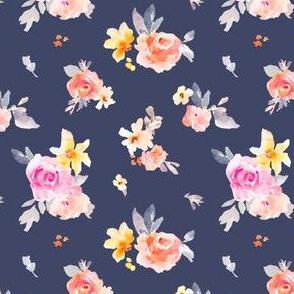 Navily Florals on Navy Blue