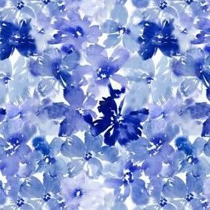 Indigo Navy Blue Florals