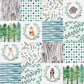 woodland quilt 6 x 6