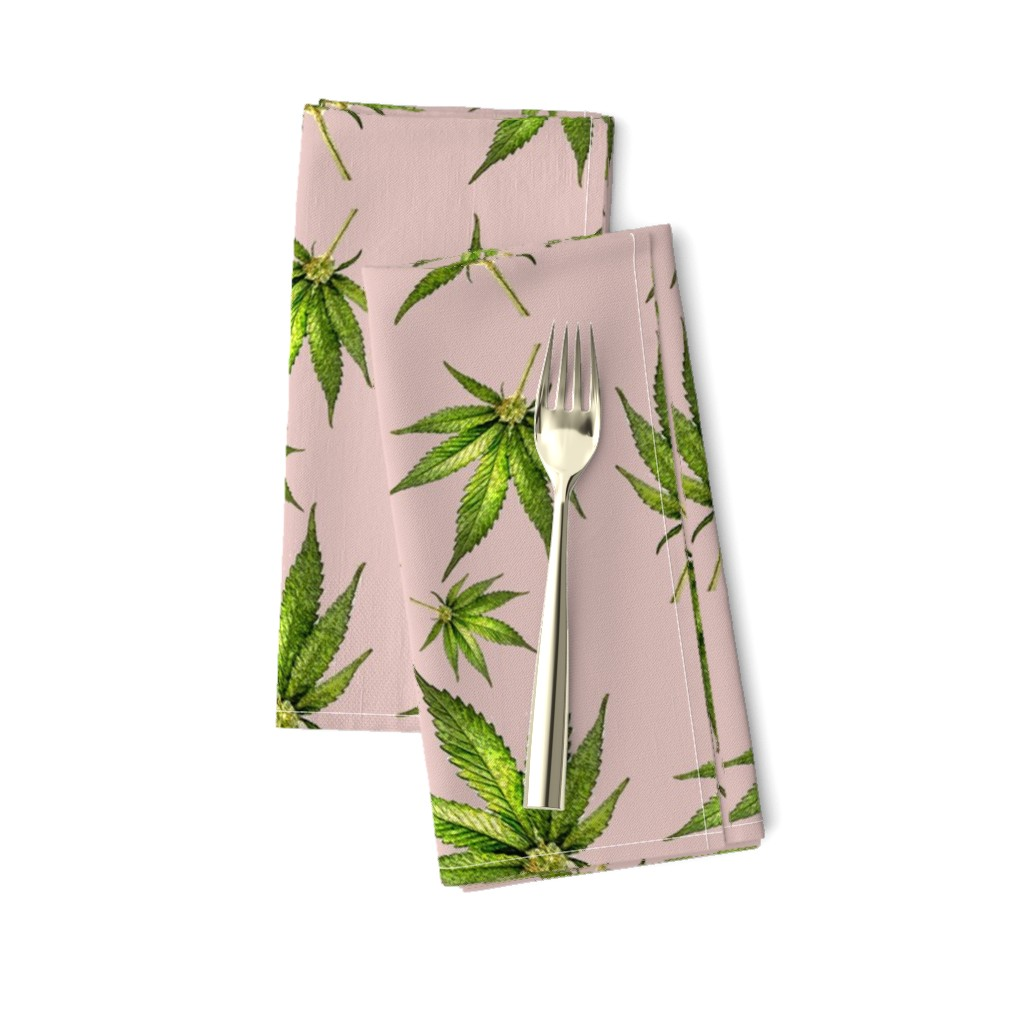 Amarela Dinner Napkins featuring Humboldt on Dusty Pink by rima