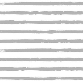 Medium-Gray Painted Stripes on White