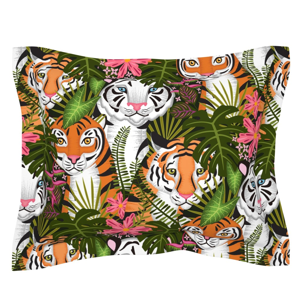 Sebright Pillow Sham featuring tiger clan by michaelzindell