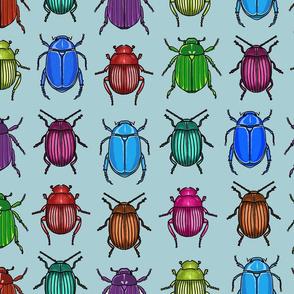 Beetles Fabric in Slate