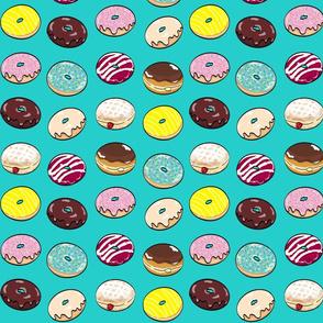 So Many Donuts in Dark Turquoise