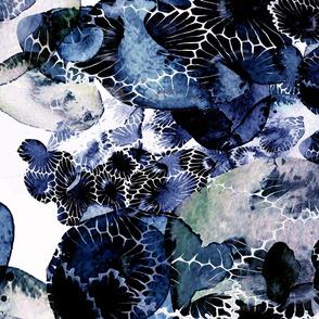Beauty Beneath Petoskey Stones Blue