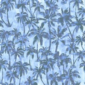 Maui Palm 2 dusty blue