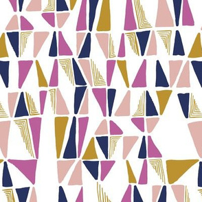 Triangles in Pink and Navy