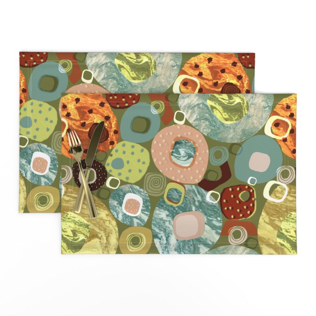Lamona Cloth Placemats featuring Mod Marble by slumbermonkey