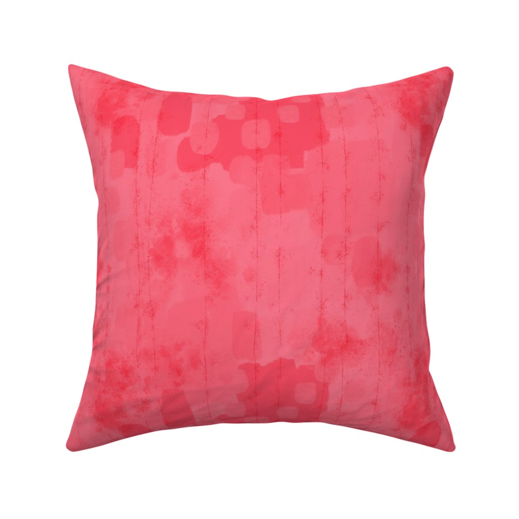 Catalan Throw Pillow featuring Watermelon Grunge by cynthiafrenette