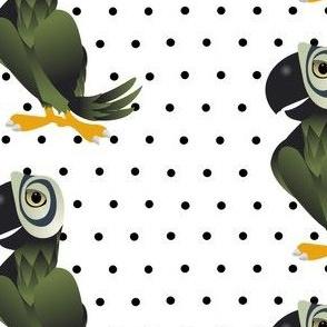 Poppin' Parrot Polka Spots