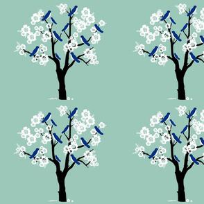 Bluebirds and Blossoms