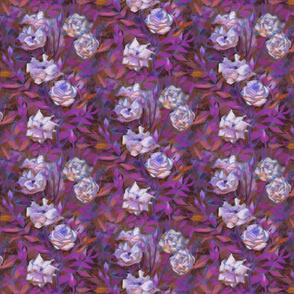 White Roses, Purple Leaves