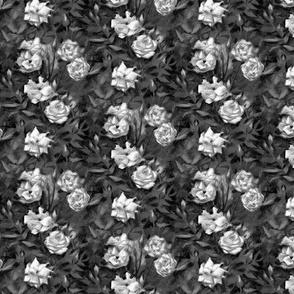 White & Black Roses
