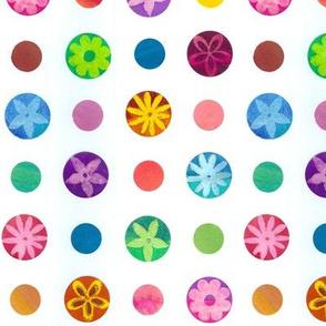 Flower Polka Dots