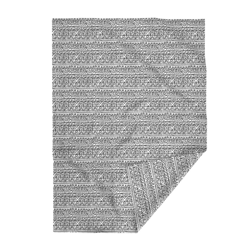 Lakenvelder Throw Blanket featuring tribal black and white  by barbarapritchard