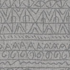 tribal grey linen light