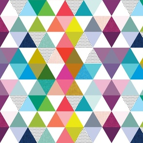 rainbow baby triangles