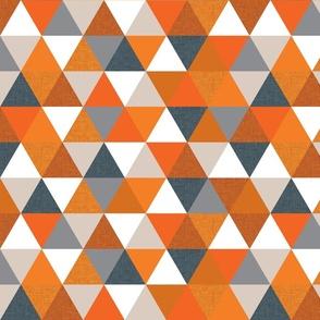 slate + orange triangles