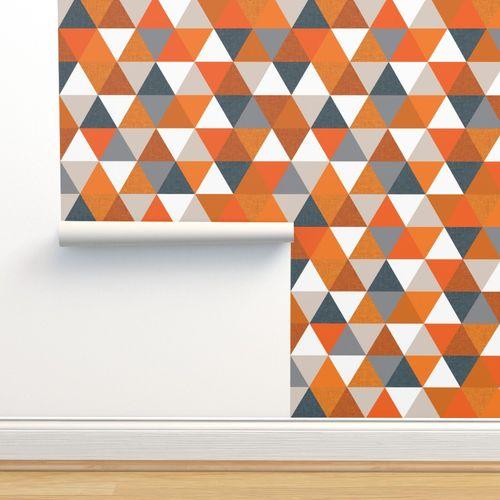 7485255 slate orange triangle wholecloth by ivieclothco