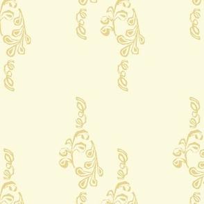 Yellow and Cream Dainty Vine