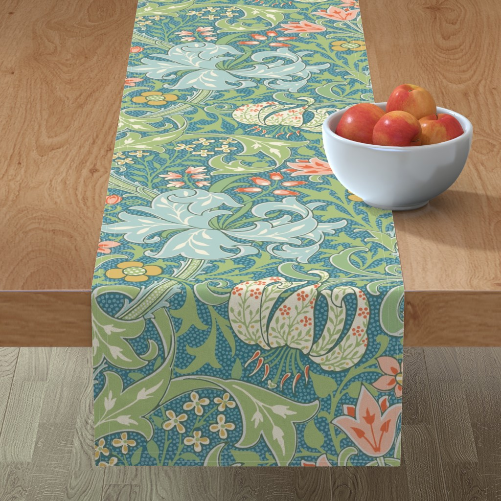 Minorca Table Runner featuring Golden Lily ~ Original  ~ The William Morris Collection by peacoquettedesigns