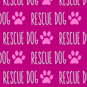 Rescue Dog Pink Big