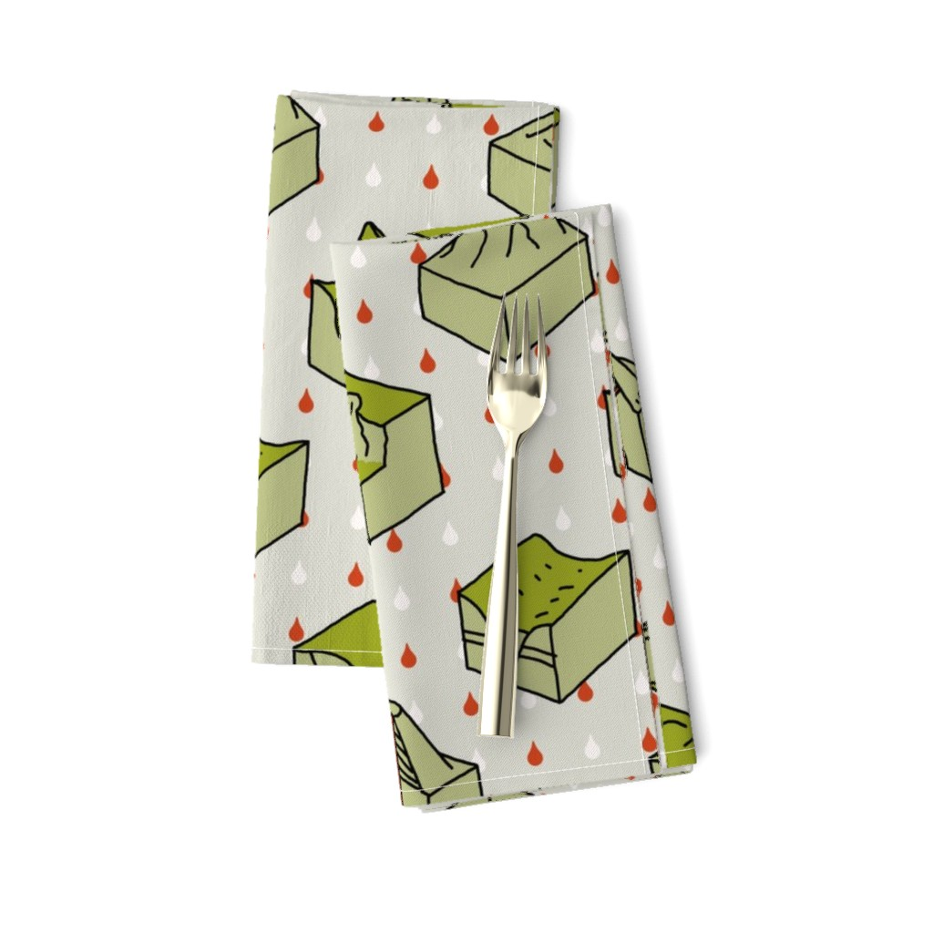 Amarela Dinner Napkins featuring geological diagrams by mongiesama