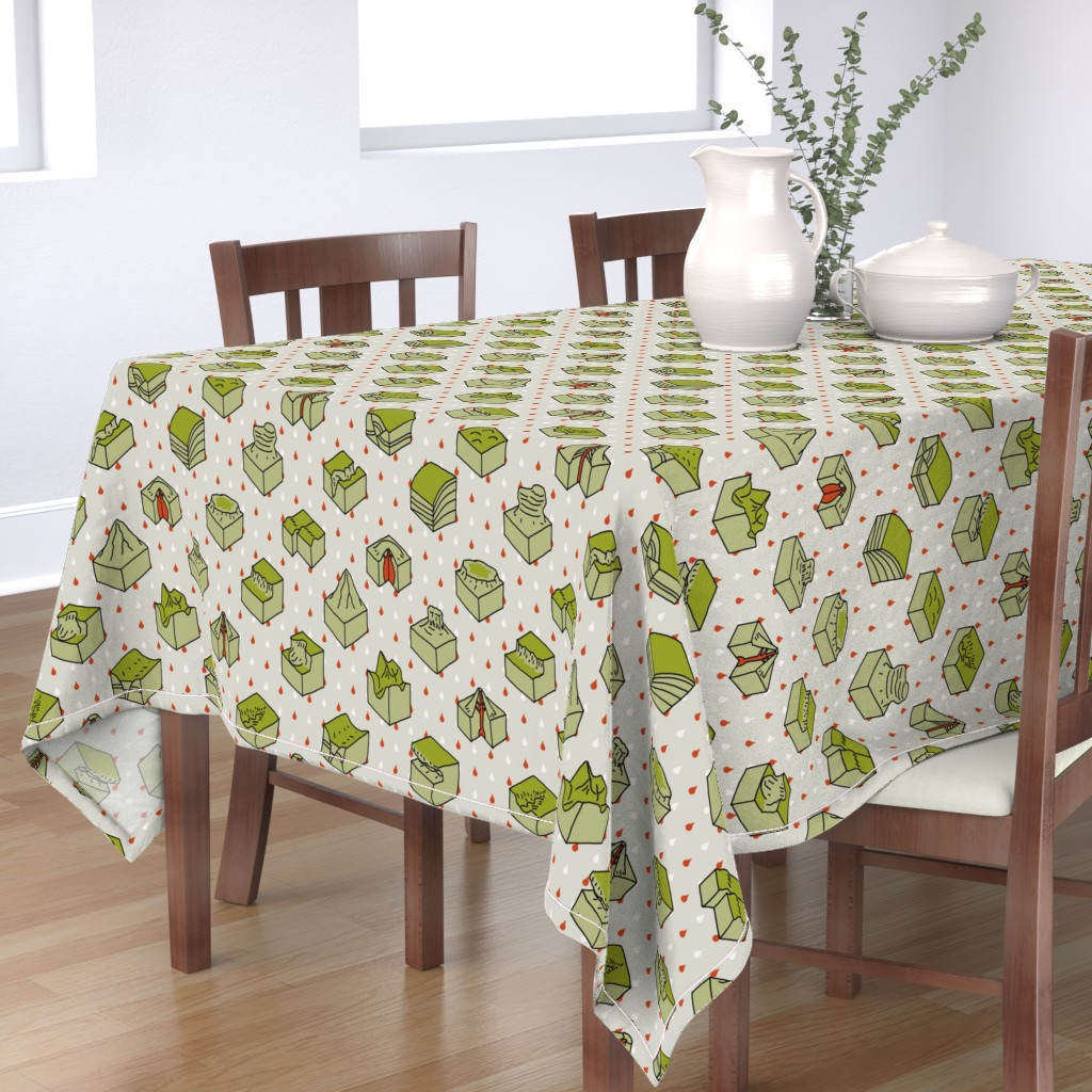 Bantam Rectangular Tablecloth featuring geological diagrams by mongiesama
