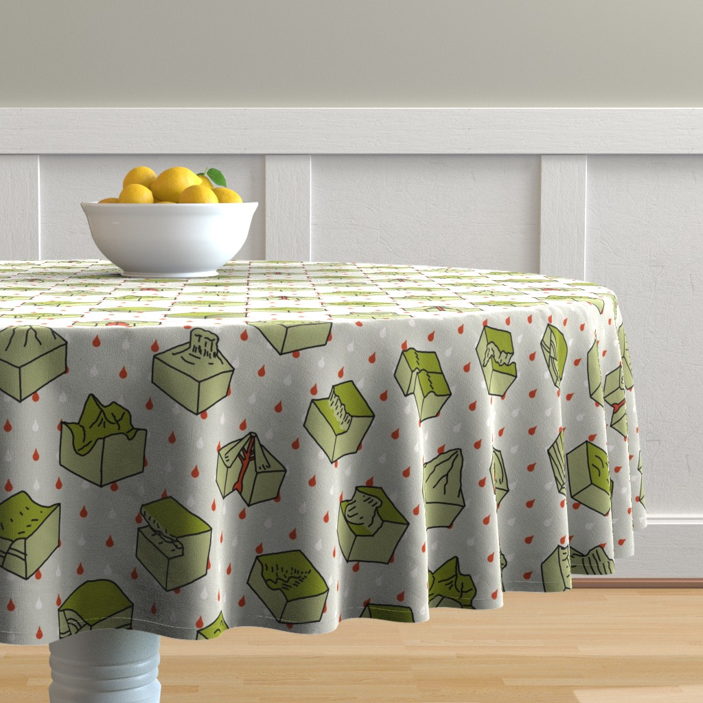 Malay Round Tablecloth featuring geological diagrams by mongiesama