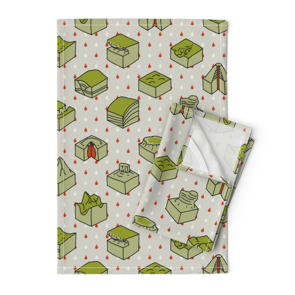 Orpington Tea Towels featuring geological diagrams by mongiesama