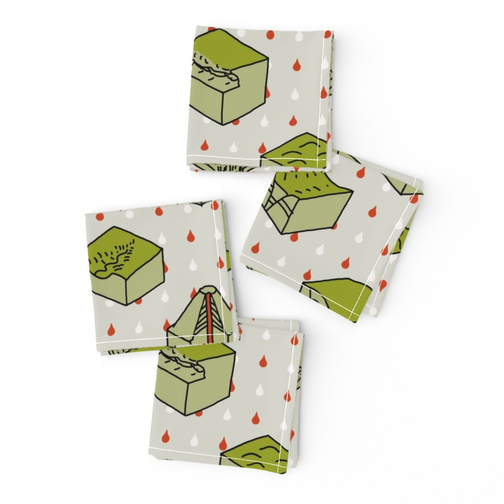 Frizzle Cocktail Napkins featuring geological diagrams by mongiesama