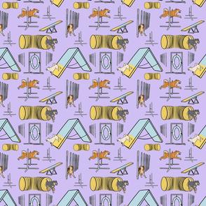 Simple Shiba Inu agility dogs - small purple