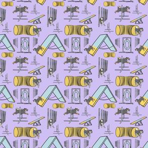 Simple Shiba Inu agility dogs B - small purple