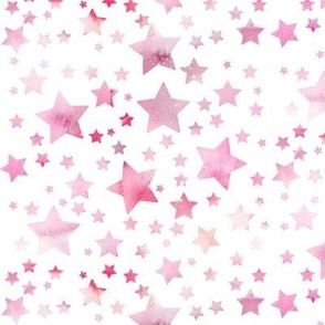 Stars - watercolour pink