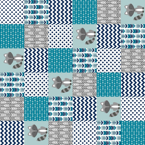 Raccoon Patchwork Blanket