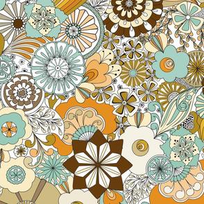 70s Flowers - Orange