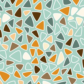 70s Flowers - Orange - Triangles Coordinate-02
