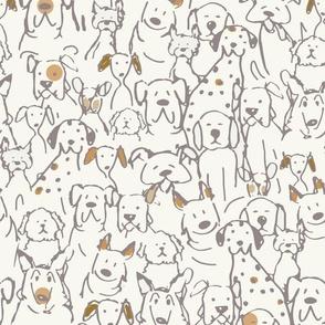 Neutral Pop Doodle Dogs
