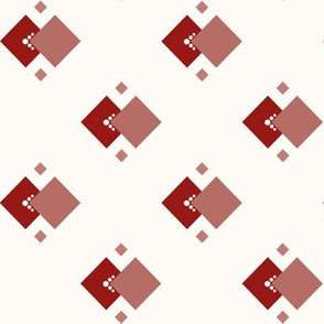 Dust In The Wind: Candy Apple Red Geometric