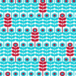 Brr Flowers Blue Red