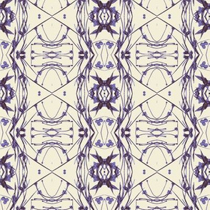 Tic-Tac-Toe (Off-white, Purple & Grey)
