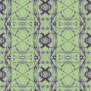 Tic-Tac-Toe (Purple & Green)