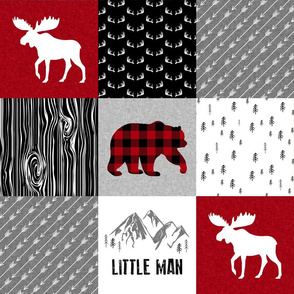 Rustic Little Man - Wholecloth Cheater Quilt