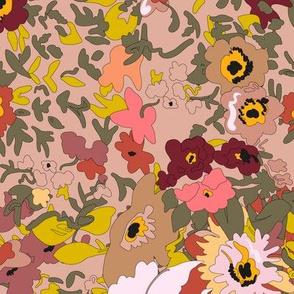 Floral Vintage Garden Bouquet - Large - Autumn