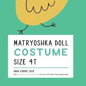 Matryoshka Doll Halloween Costume (4T)